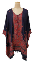 Load image into Gallery viewer, Blue Autumn Winter Kosava Poncho Size 20-32 KO40