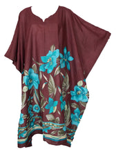 Load image into Gallery viewer, Brown 100% Cotton Kaftan One Size 16 - 28