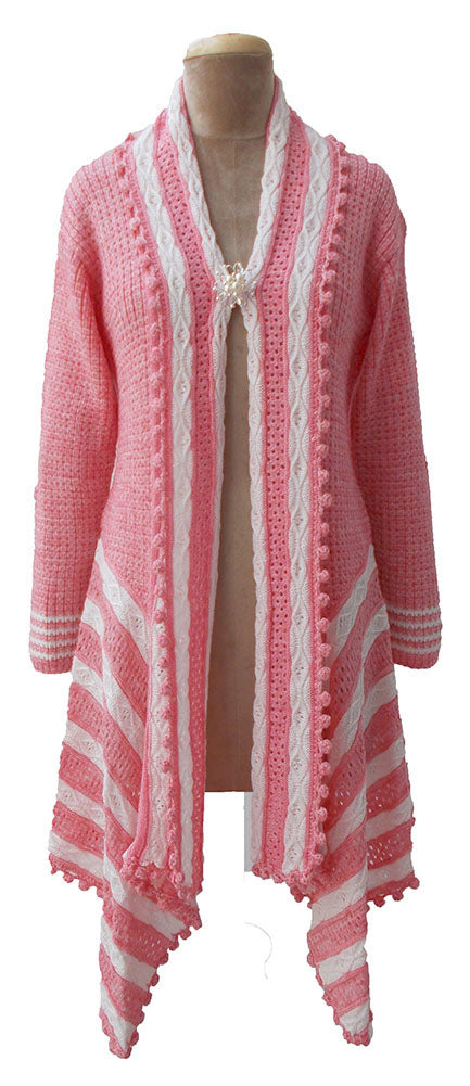 Winter Knitted Long Sleeve Cardigan Size 10 12 14