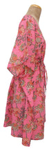 "Load image into Gallery viewer, 41"" Long Cotton Belted Kaftan One Size 12 to 24 DM4 (Pink)"