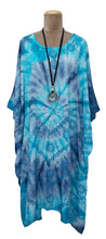 Load image into Gallery viewer, Block Print TIE DYE Kaftan Dress Size 14 -26 BK5