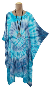 Block Print TIE DYE Kaftan Dress Size 14 -26 BK5