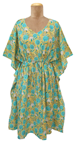 "41"" Cotton Belted Kaftan One Size 12 to 24 DM8 (Honeysuckle)"