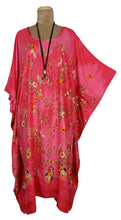 Load image into Gallery viewer, Pink Rayon Printed One Size Kaftan Size 16 -26 K8