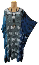 Load image into Gallery viewer, Block Print TIE DYE Kaftan Dress Size 14 -26 BK9