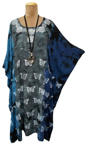 Block Print TIE DYE Kaftan Dress Size 14 -26 BK9