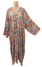 Load image into Gallery viewer, Bali Maxi Kaftan Dress Size 14 to 26 NM3