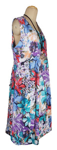 Oversized Floral Print Cotton Maxi Dress Size 18-26 N4