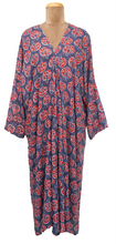 Load image into Gallery viewer, Bali Maxi Kaftan Dress Size 14 to 26 NM8