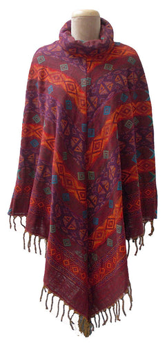 Autumn Winter Poncho One Size 10 12 14 16 18 20