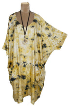 Load image into Gallery viewer, Mustard Pockets Viscose Lagenlook Kaftan 20 to 34