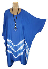 Load image into Gallery viewer, Royal Blue TIE DYE Short Sleeve Kaftan 24 to 34