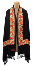 Load image into Gallery viewer, The Oriental Garden Embroidered Shawl S6
