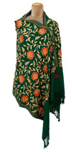 Load image into Gallery viewer, The Oriental Garden Embroidered Shawl S21