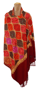 The Oriental Garden Embroidered Shawl S5