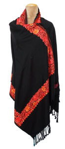 The Oriental Garden Embroidered Shawl S24