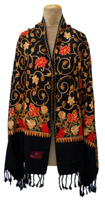 The Oriental Garden Embroidered Shawl S3