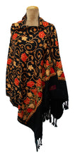 Load image into Gallery viewer, The Oriental Garden Embroidered Shawl S3
