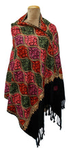 Load image into Gallery viewer, The Oriental Garden Embroidered Shawl S28