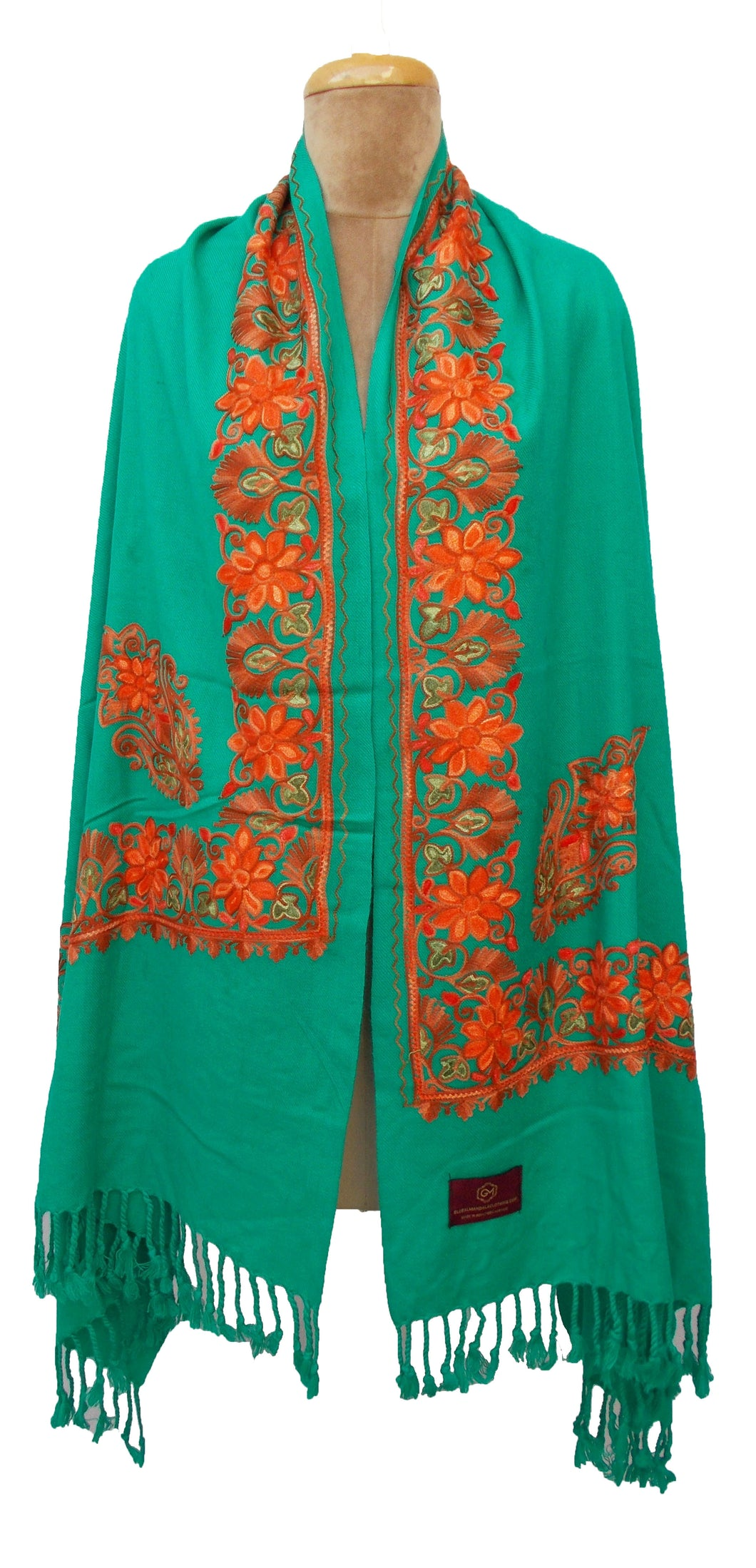 The Oriental Garden Embroidered Shawl S22