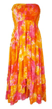 Load image into Gallery viewer, Rayon Bandeau Junglee Dress Hippie Boho Gypsy Beach Summer Size 12 14 16 18 20