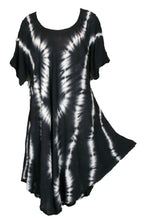Load image into Gallery viewer, Viscose Tie Dye Art Tunic Top One Size Plus 18-30
