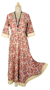 100% Cotton Full Length Maxi Dress in S M XL