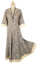 Load image into Gallery viewer, 100% Cotton Full Length Maxi Dress in S M XL