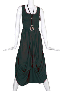 Dual Style Hitch Dress Rayon Long Boho Maxi Party Evening Size 16 18 20 22 24