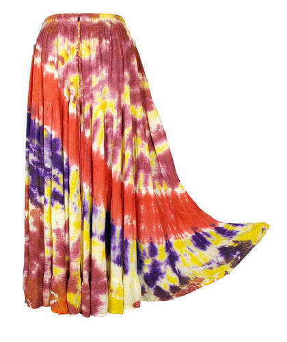 Tie Dye Tiered Hippie Boho Long Maxi Skirt Size 10 12 14 16 18 20 22 24