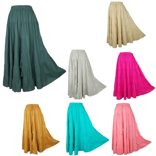Long Cotton Skirt One Size 10 -22