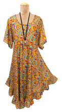 Load image into Gallery viewer, Boho Printed Viscose Tunic Size 18- 30 UM1