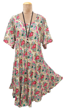 Load image into Gallery viewer, Boho Printed Viscose Tunic Size 18- 30 UM2