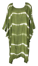 Load image into Gallery viewer, Green TIE DYE Short Sleeve Kaftan 24 to 34