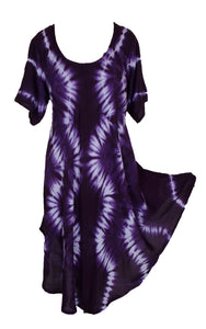 Viscose Tie Dye Art Tunic Top One Size Plus 18-30