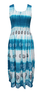 Viscose Tie Dye Maxi Dress UK  One Size 14-24 EM1