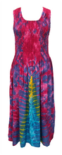 Load image into Gallery viewer, Viscose Tie Dye Maxi Dress UK  One Size 14-24 EM3
