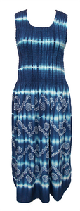 Viscose Tie Dye Maxi Dress UK  One Size 14-24 EM4