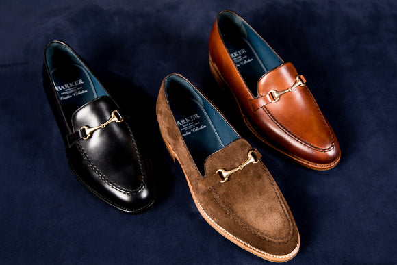Men's Handmade Leather Loafers By Barker