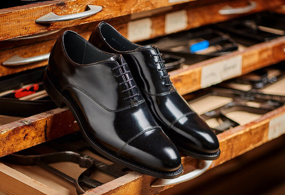 A handmade shoes for men by Barker.
