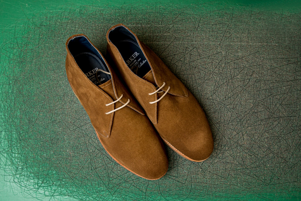 Connor - Men's suede Chukka boot by Barker