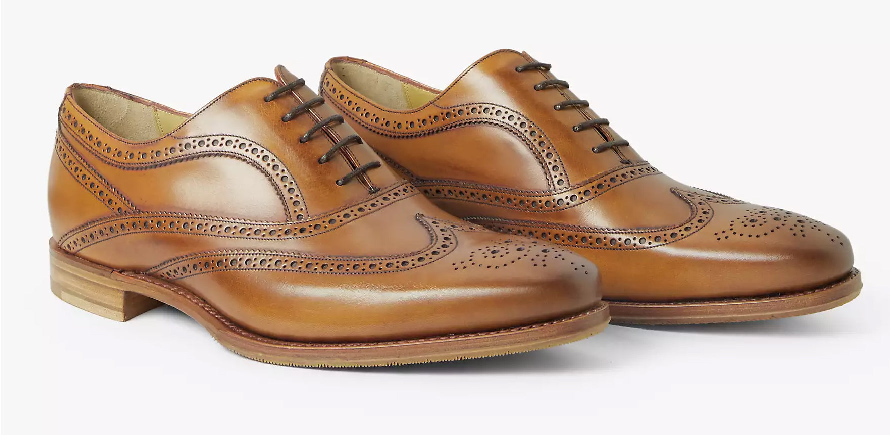 Turing - Men's Brown Leather Brogue Shoe From Barker Tech Collection