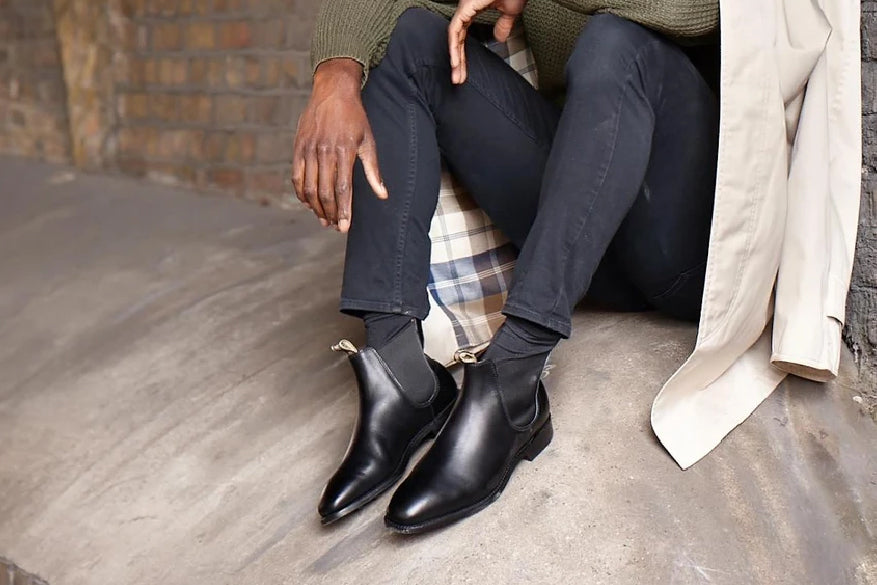 Mansfield - Men's Leather Black Chelsea Boot By Barker