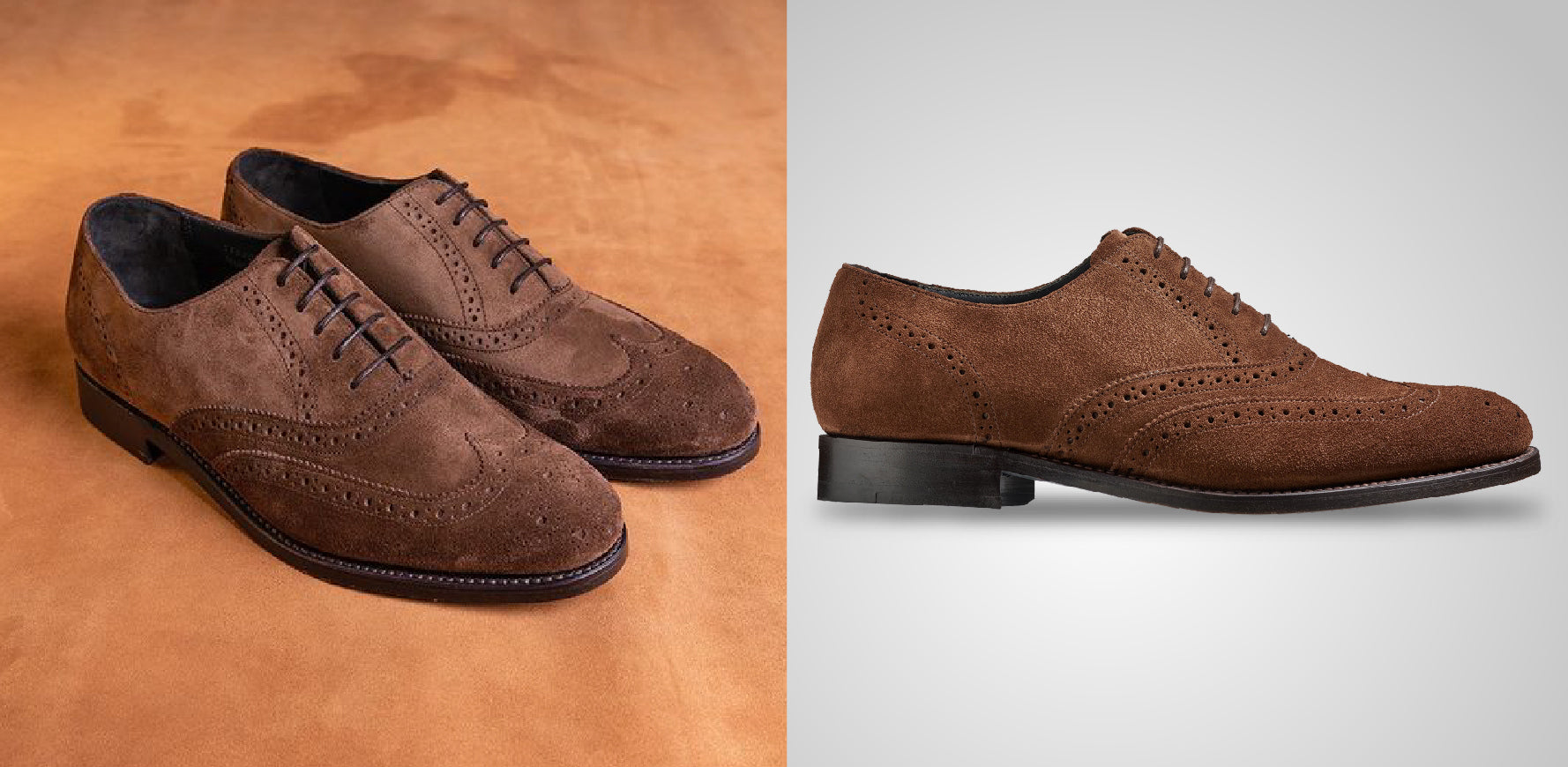Chancery - Men's Tan Burnished Suede Oxford Brogue Shoe By Barker