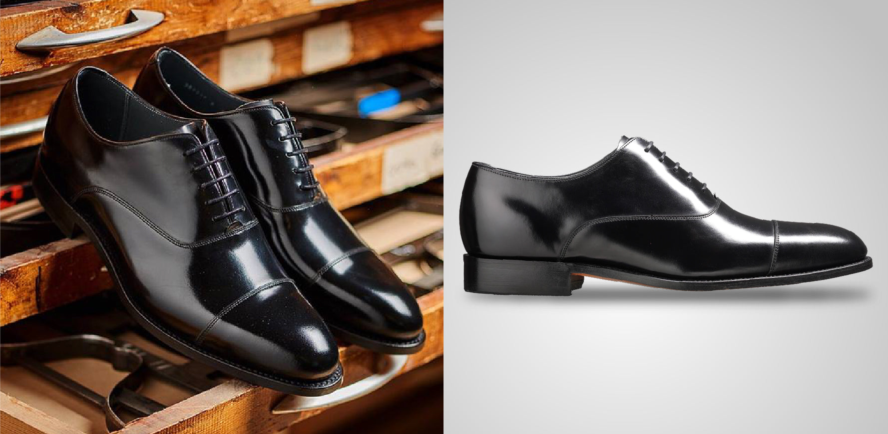 Winsford - Men's Handmade Black Leather Oxford Shoes By Barker