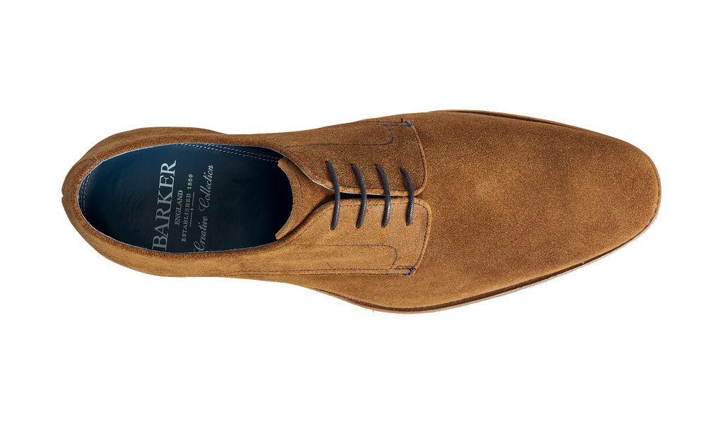 Max - Tan Burnished Suede   Mens Derby