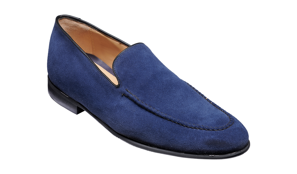 Swanage - Dark Navy Suede