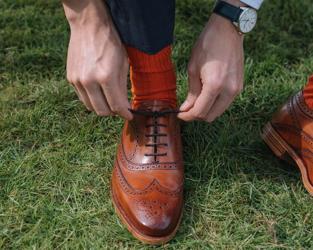 Turing - Men's Handmade Leather Brogue by Barker