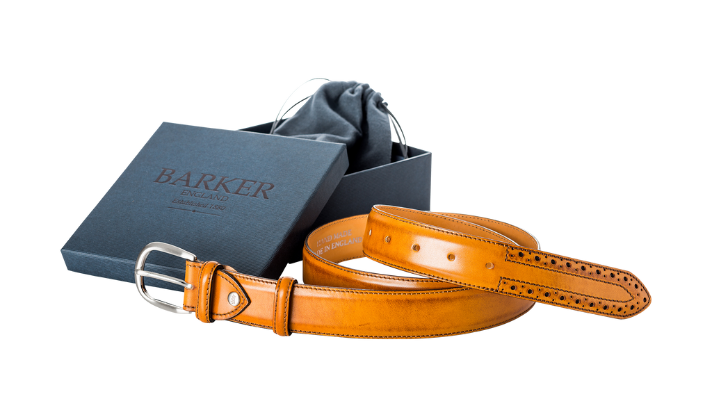 Brogue Belt - Cedar Calf