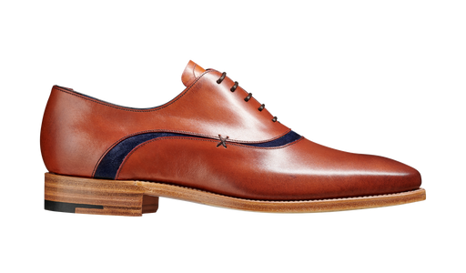 Emerson - Antique Rosewood Navy Suede
